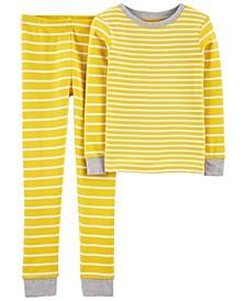 Big Boys 2 Piece Striped Snug Fit Pajama Set