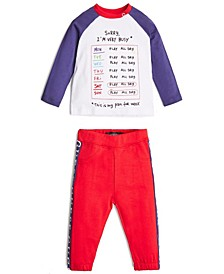 Baby Boys Long Sleeve T-Shirt & Active Jogger Set
