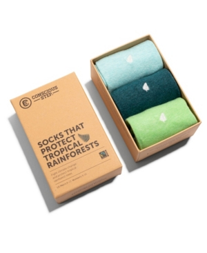Women's Box of 3 Crew Socks that Protect Tropical Rainforests
