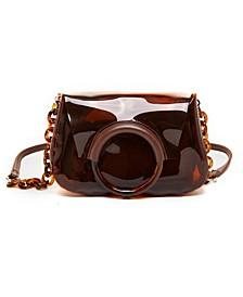 Clear Amber Chain Handbag