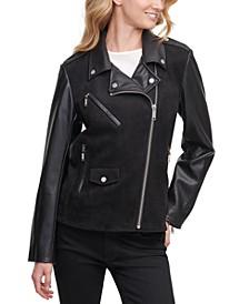 Mixed-Media Moto Jacket