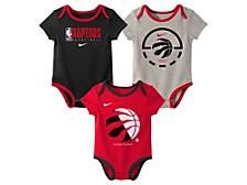 Baby 3-Pk. Toronto Raptors Practice Bodysuits