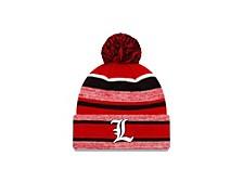 Louisville Cardinals Striped Marled Knit Hat