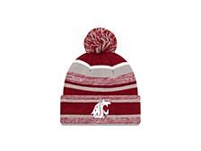 Washington State Cougars Striped Marled Knit Hat
