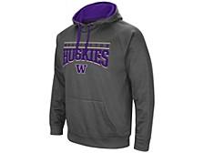 Washington Huskies Men's Poly Performance Hooded Sweatshirt