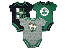 Baby 3-Pk. Boston Celtics Cotton Trifecta Bodysuits