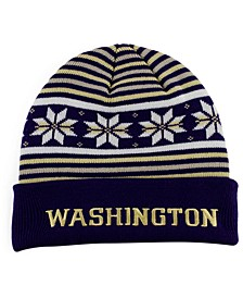 Washington Huskies Cuffed Snowflake Beanie