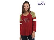 San Francisco 49ers Women's Distinct Snap Thermal T-Shirt