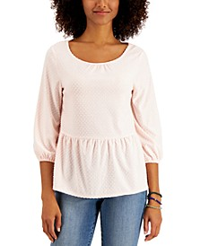 Petite Clip-Dot Top, Created for Macy's