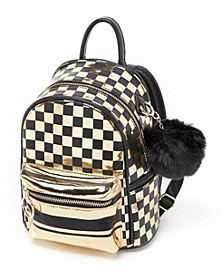 Small Checkered Backpack