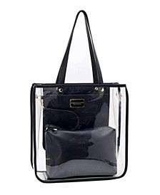 Clear Top Handle Tote Bag