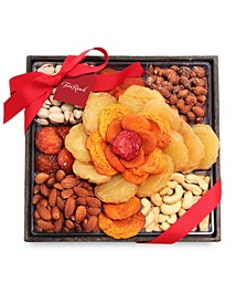 Holiday Fruit and Nut Rose Gift Tray
