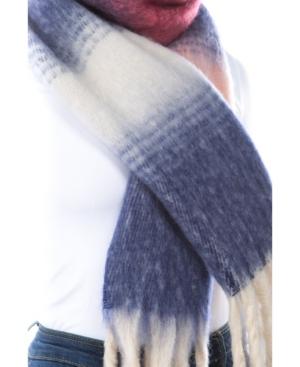 Women's Plush Stripe Scarf