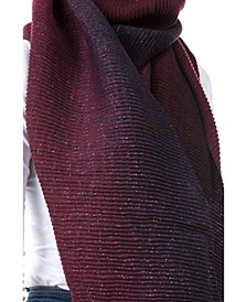 Women's Pleated Lurex Scarf