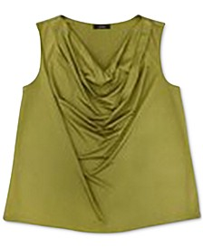 Plus Size Cowlneck Tank Top, Created for Macy's