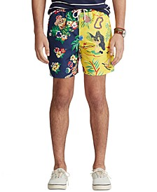 폴로 랄프로렌 수영복 하의 Polo Ralph Lauren Mens 5-1/2-Inch Traveler Swim Trunks,Hawaiian Funshort