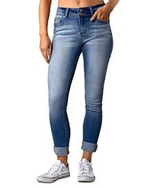 Juniors' Cuffed Skinny Jeans