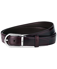 Men's Horseshoe Buckle Leather Belt