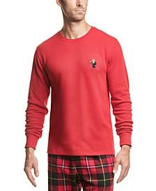 Men's Bear Waffle-Knit Sleep Shirt