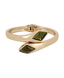 Olivine Bypass Bangle Bracelet