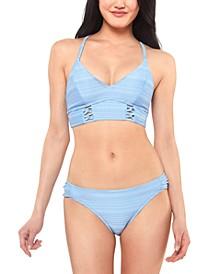 Ribbed Cropped Cami Bikini Top & Bottoms