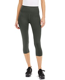 High-Rise Cropped Side-Pocket Leggings, Created for Macy's
