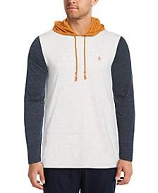 Men's Color-Block Long-Sleeve Hoodie