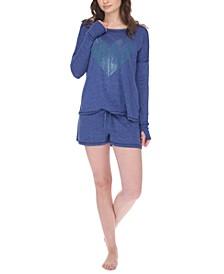 Long-Sleeve T-Shirt & Shorts Loungewear Set