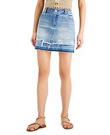 INC Double-Hem Mini Jean Skirt, Created for Macy's