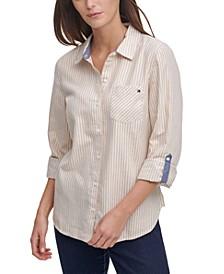 Striped Utility Shirt