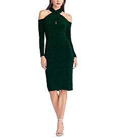 Simone Crisscross-Halter Sheath Dress