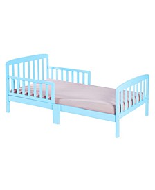Classic Wooden Bed Frame with Double Adjustable Guard Rails