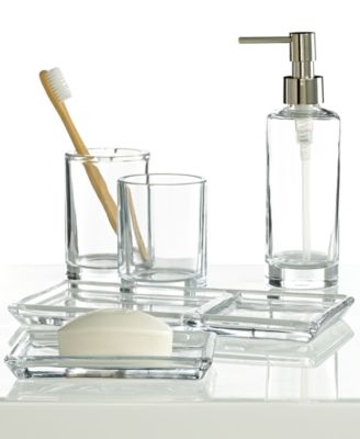 Hotel Collection Glass Bath Accessories Collection Created for