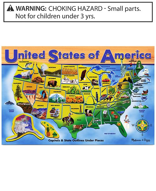 Melissa and Doug Kids Toy, U.S.A. Map Puzzle & Reviews ...