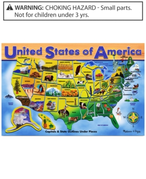 Melissa and Doug Kids Toy Usa Map Puzzle
