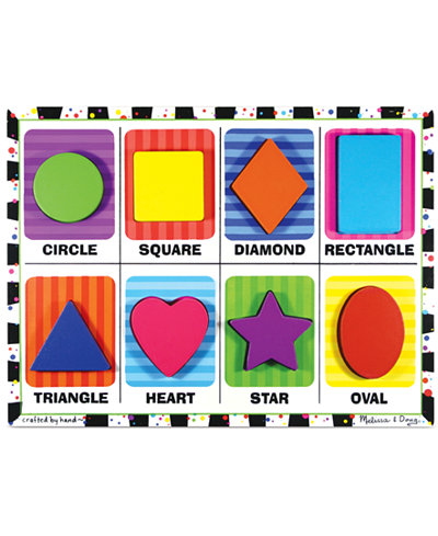 Melissa and Doug Kids Toy, Shapes Chunky Puzzle