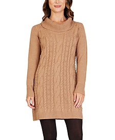 Juniors' Cable-Knit Sweater Dress