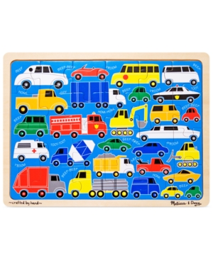 Melissa and Doug Kids Toy Beep Beep 24Piece Jigsaw Puzzle