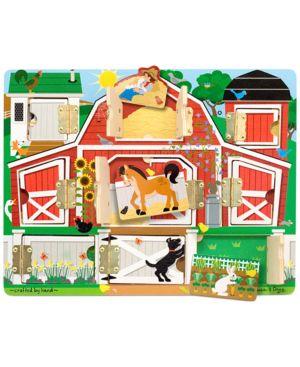 Melissa and Doug Kids Toy, Magnetic Farm Hide & Seek Board