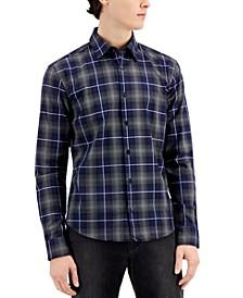 Hugo Boss Men's Ermo Slim-Fit Glen Plaid Shirt