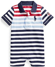 Ralph Lauren Baby Boys Cotton Mesh Polo Shortall