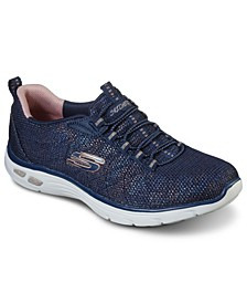 Women's Relaxed Fit - Empire D'Lux - Charming Grace Athletic Walking Sneakers from Finish Line