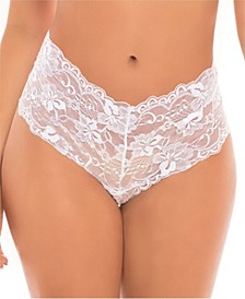 Women's Lace Crotchless Boyshort Underwear