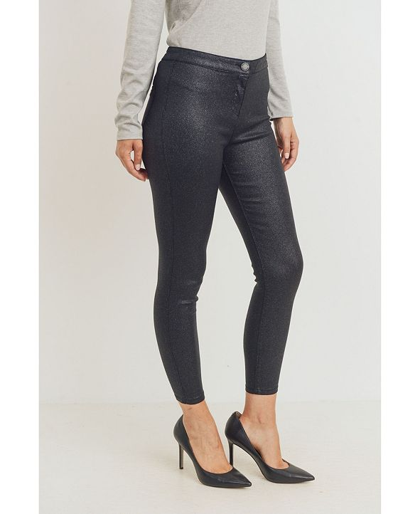 Rubberband Stretch Ladie's Sparkle Coated Skinny