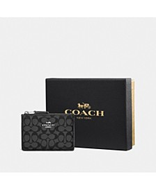 Signature Jacquard Mini ID Skinny Wallet