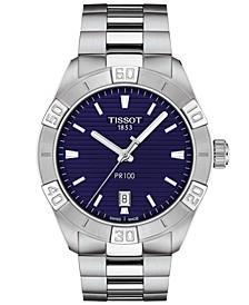 Men's Swiss PR 100 Sport Stainless Steel Bracelet Watch 42mm