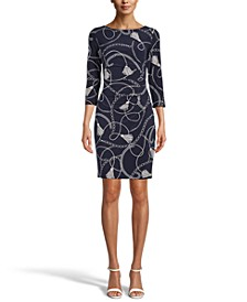 Patricia Printed Sheath Dress