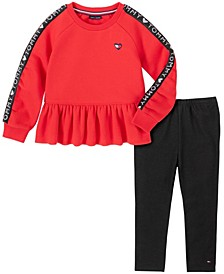 Toddler Girls Two Piece Tunic Top with Leggings Set