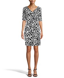Valentina Printed Sheath Dress
