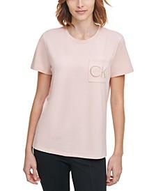 Rhinestone Logo Pocket T-Shirt